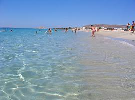 Crystal clear beaches in Naxos