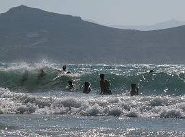 Windy day in Naxos
